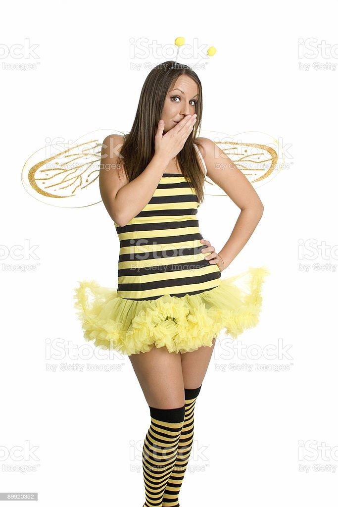 Surprised Bee stock photo
