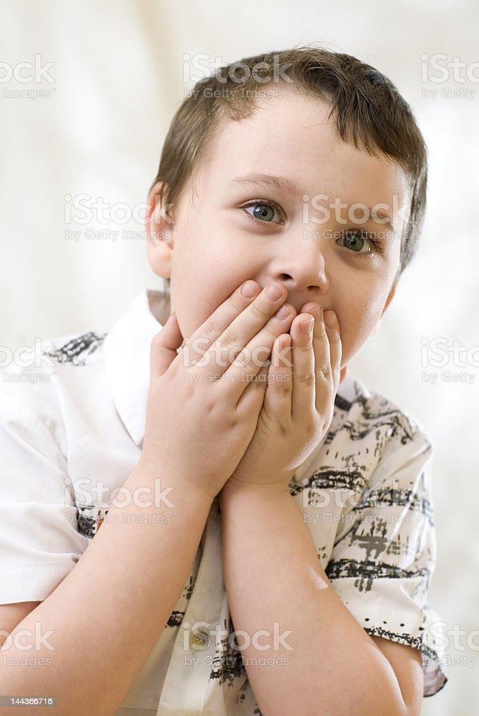 Surprised boy royalty-free stock photo