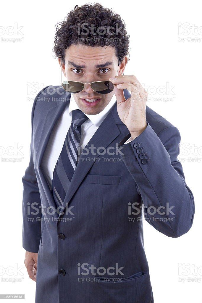 surprised businessman stock photo