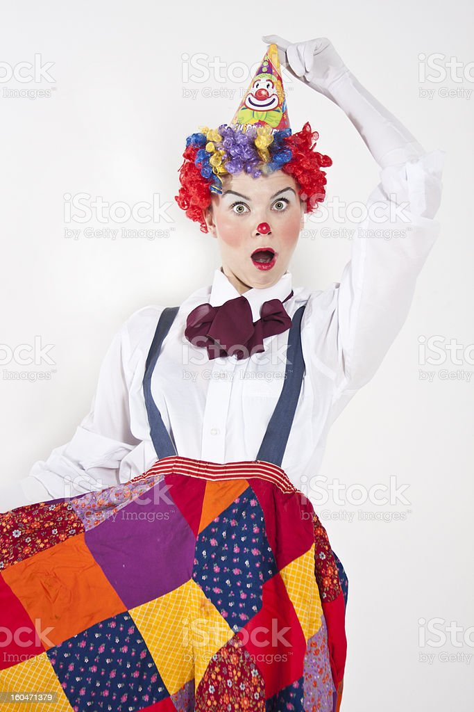 Surprised clown royalty-free stock photo