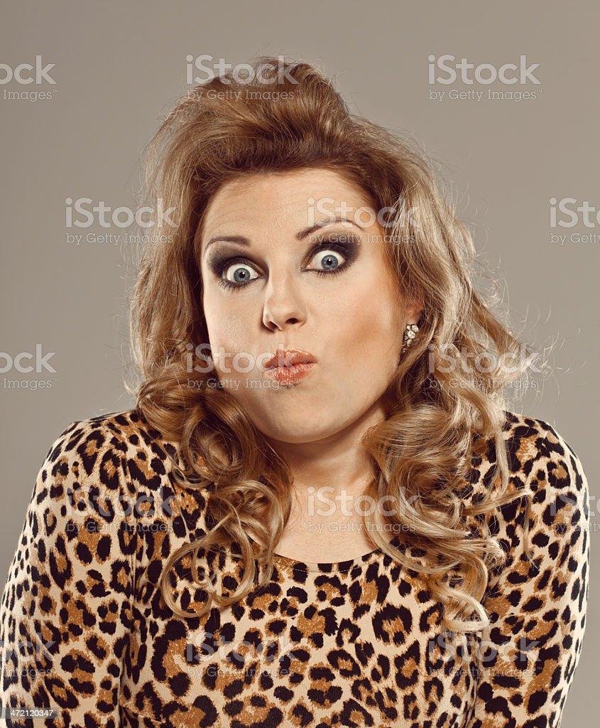 Surprised Elegant Woman royalty-free stock photo