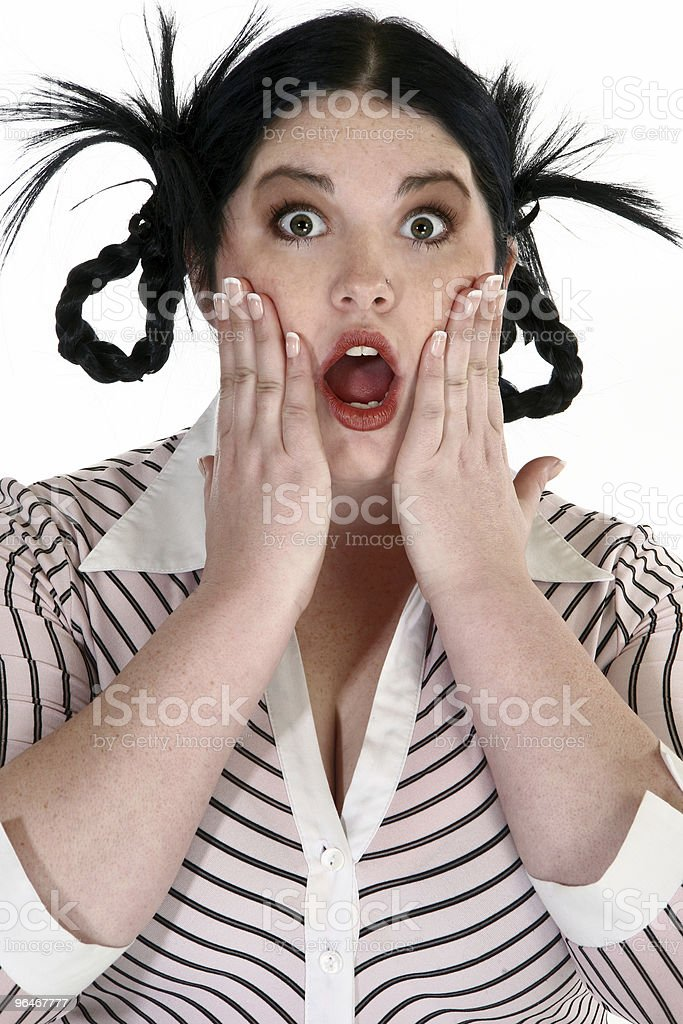 Surprised Expression royalty-free stock photo