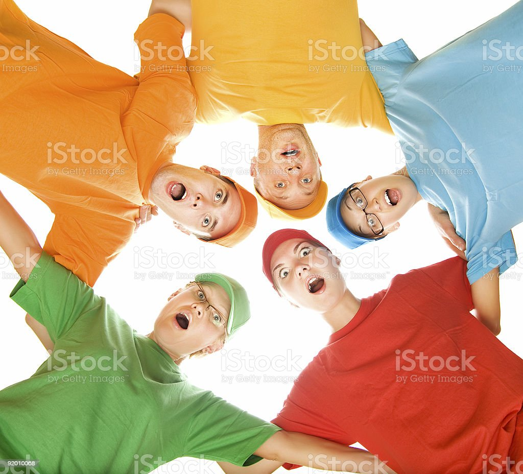 Surprised family royalty-free stock photo