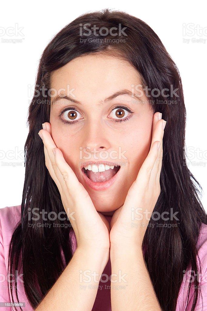 Surprised girl stock photo