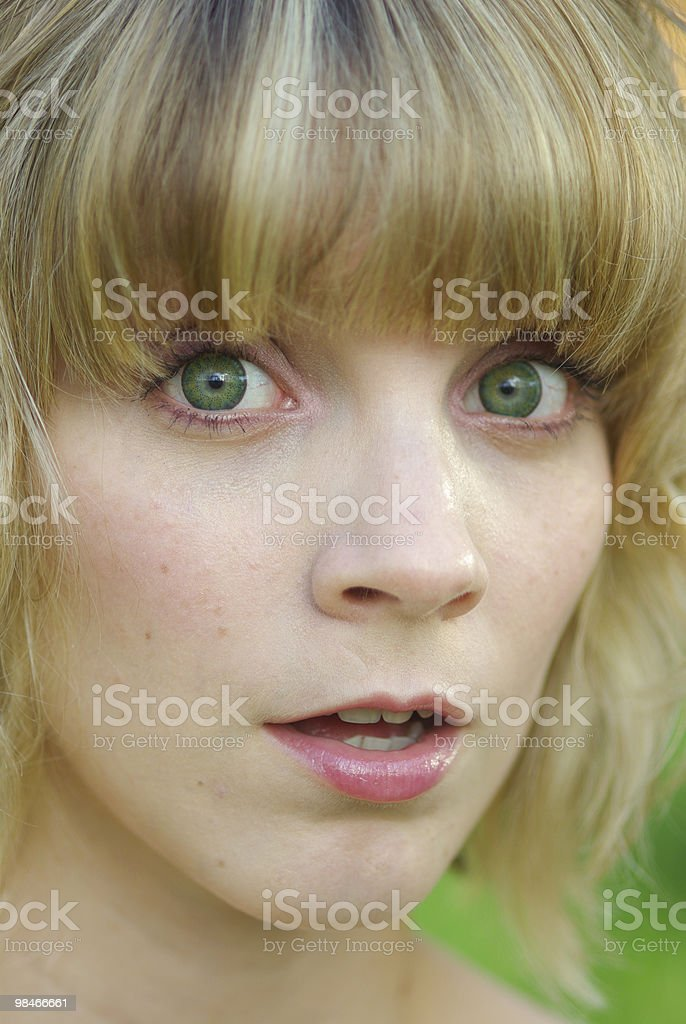 Surprised girl royalty-free stock photo