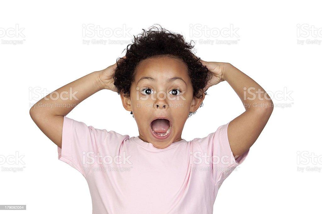 Surprised latin child royalty-free stock photo