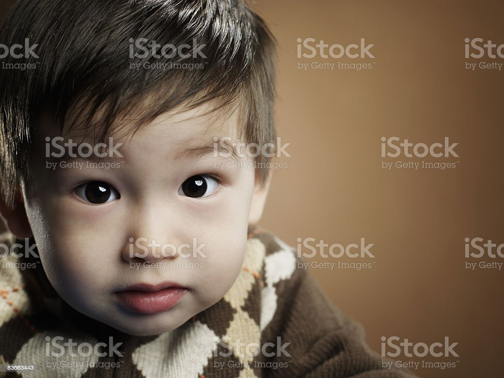 Surprised looking 2 year old boy. royalty-free stock photo