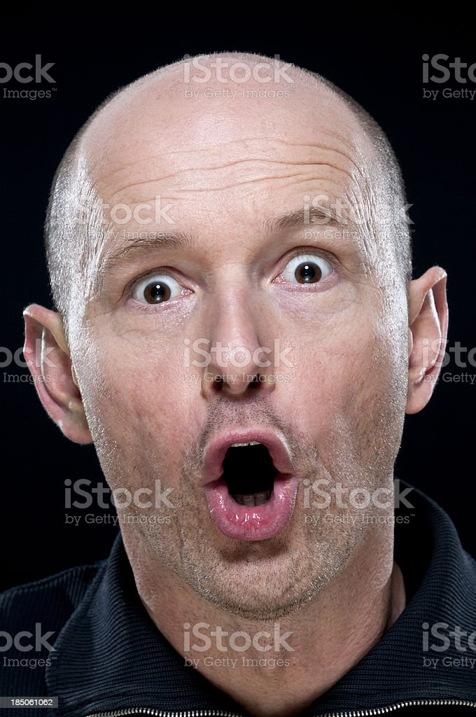 surprised man royalty-free stock photo