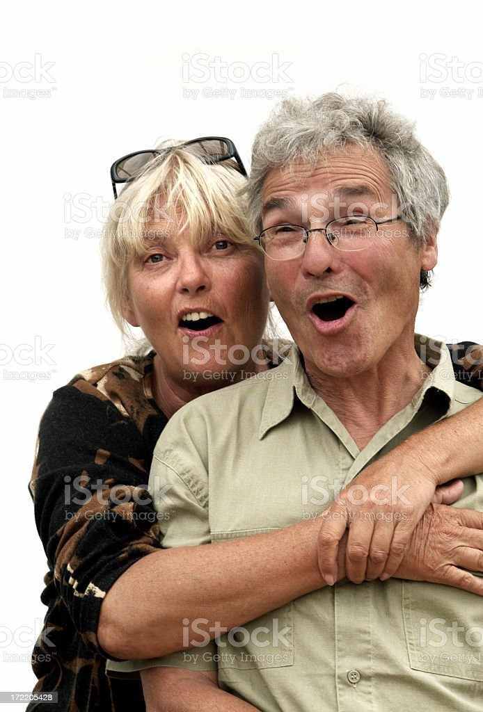 Surprised Pensioners 02 royalty-free stock photo