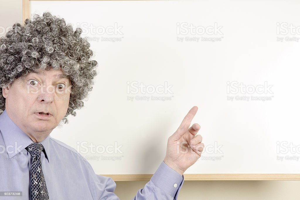 Surprised Presenter royalty-free stock photo