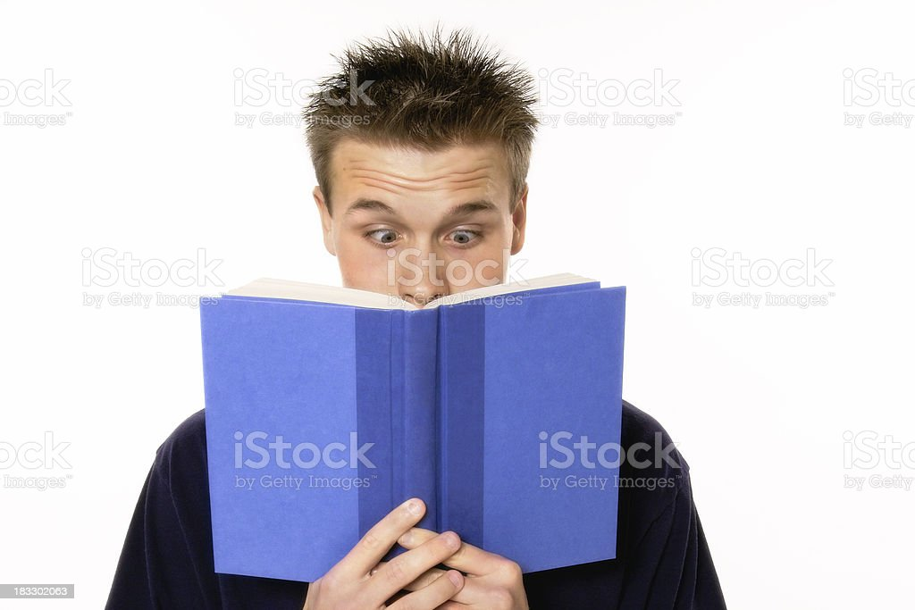 Surprised Reader stock photo