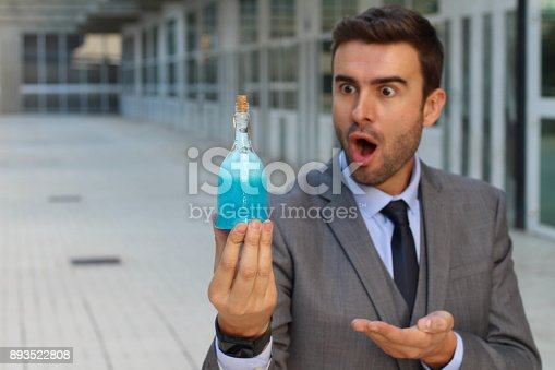 istock Surprised scientist with a new life-changing formula 893522808