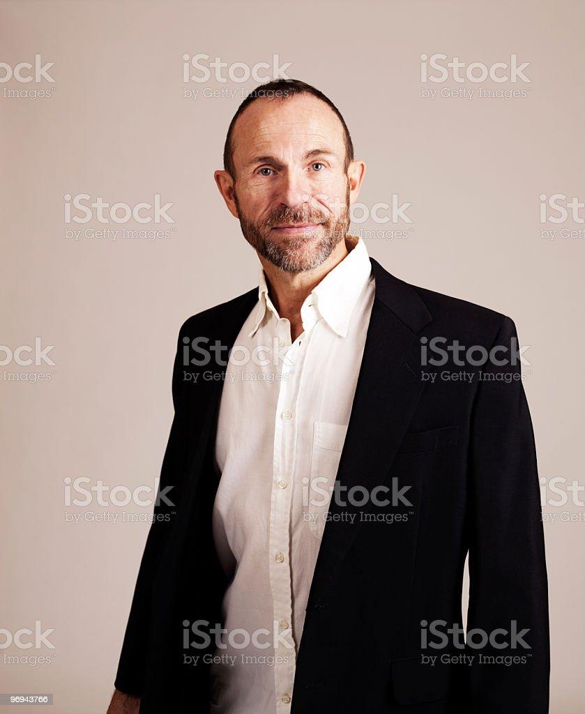 Surprised senior man in suit royalty-free stock photo