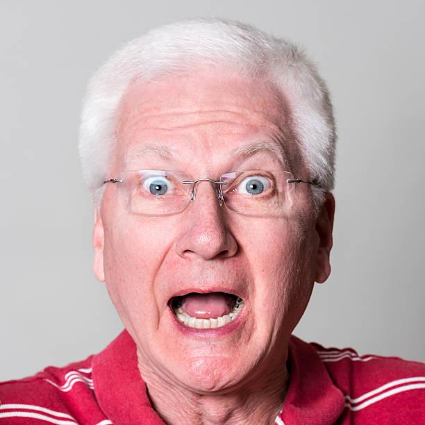 Surprised Senior Man (real people) stock photo