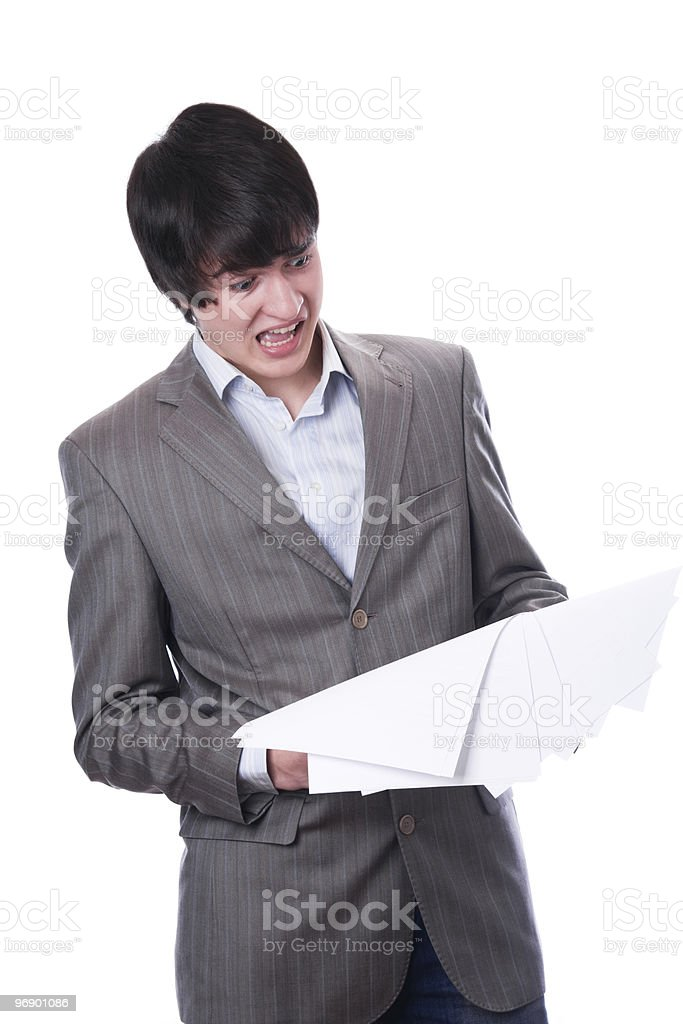 Surprised student or young businessman royalty-free stock photo