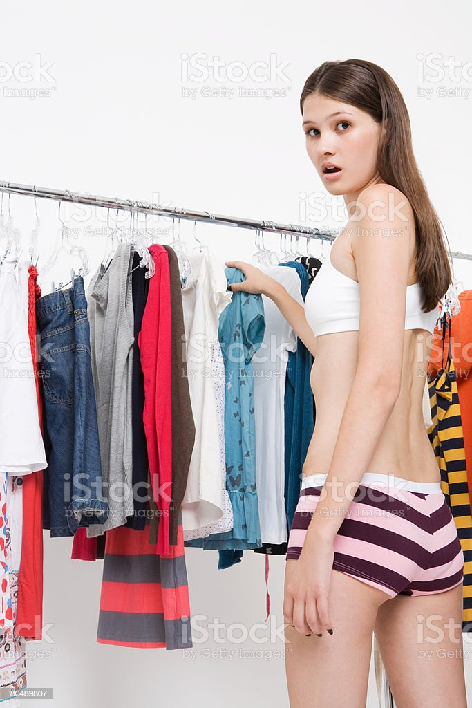 A surprised teenage girl royalty-free stock photo