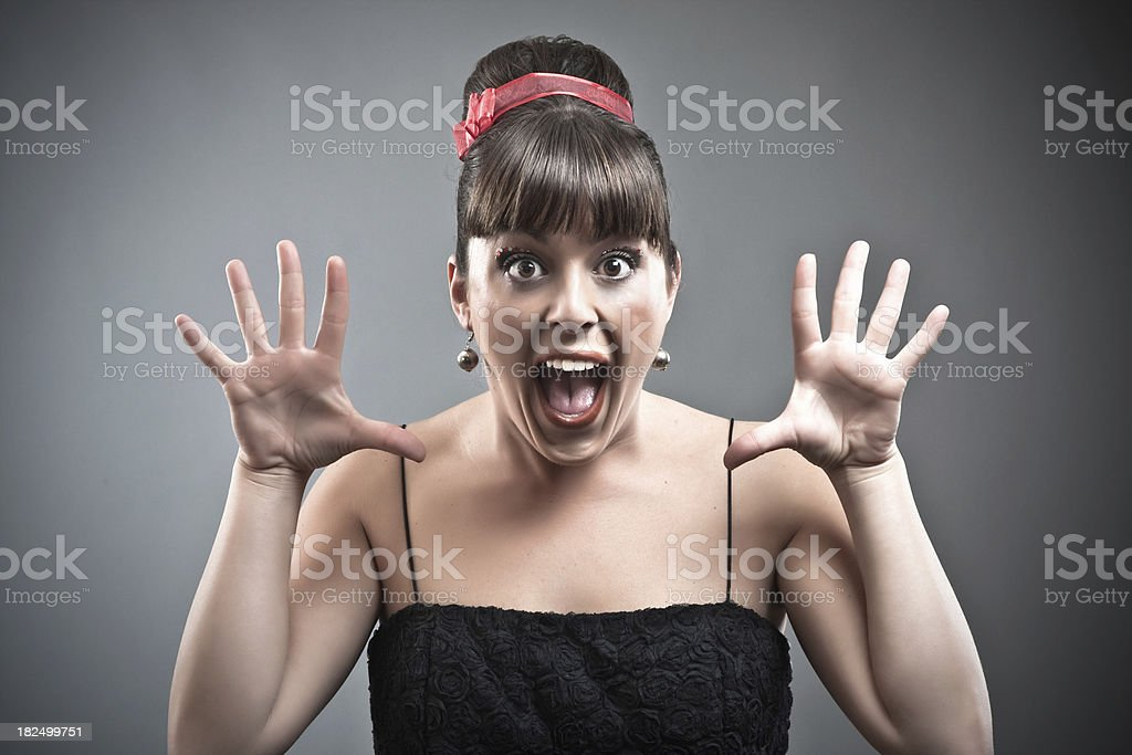 Surprised woman. royalty-free stock photo