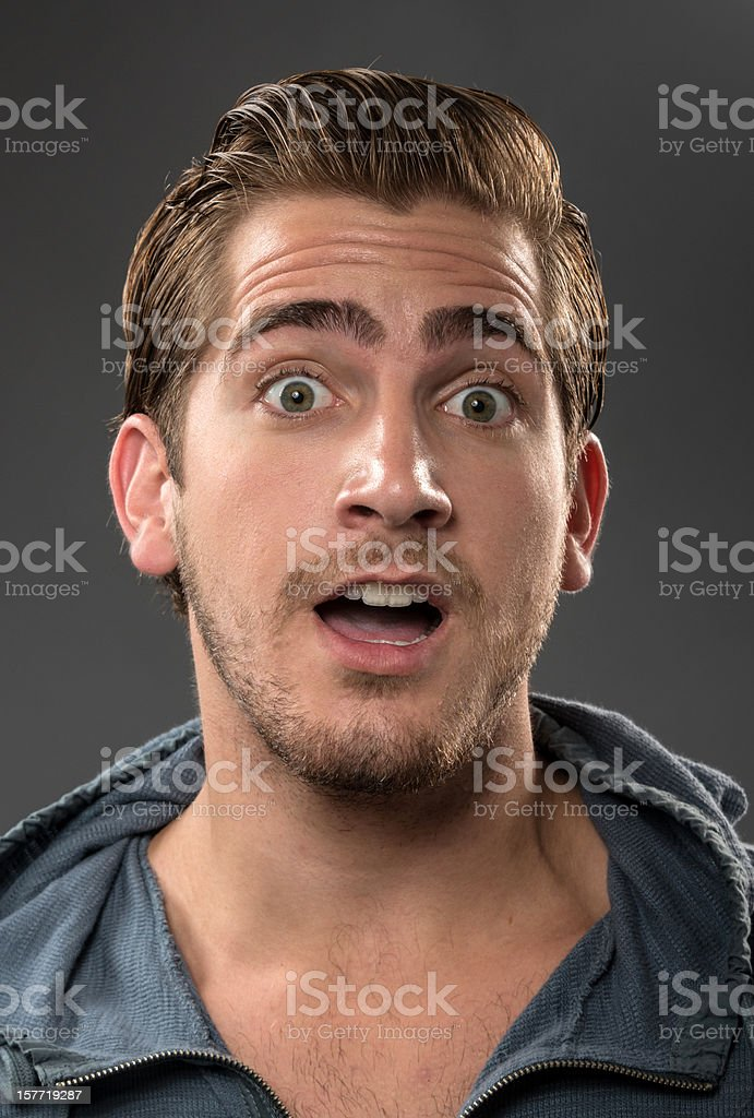 Surprised Young man (real people) royalty-free stock photo