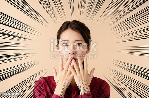 istock Surprised young woman. 1068618382