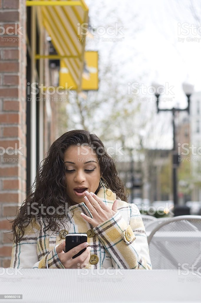 Surprising Text Message royalty-free stock photo