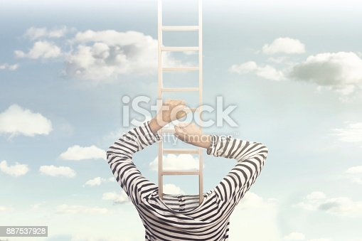 istock Surreal and conceptual photo of introspection of people 887537928