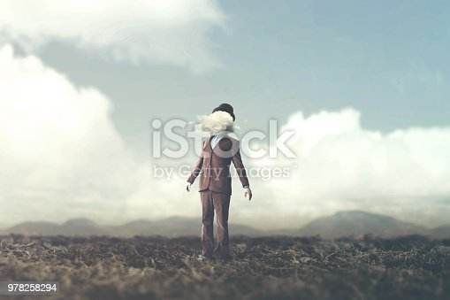 861553788 istock photo surreal concept head in the clouds 978258294