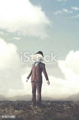 861553788 istock photo surreal concept head in the clouds 978274480