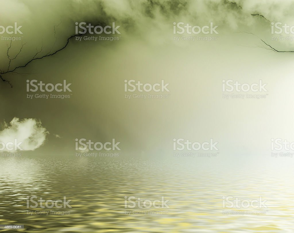 Surreal, dark clouds. royalty-free stock photo