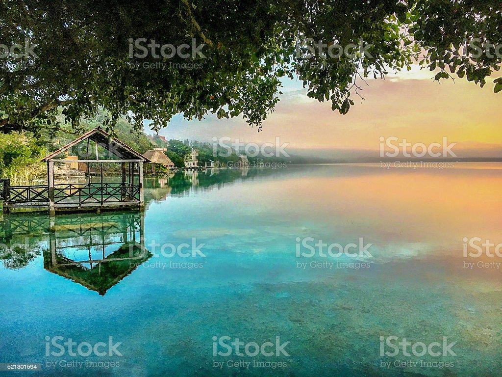 Surreal dawn stock photo