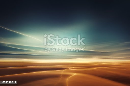 Magical and surreal desert landscape