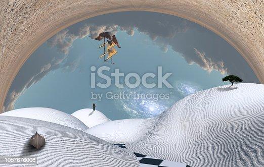 istock Surreal desert 1057676008