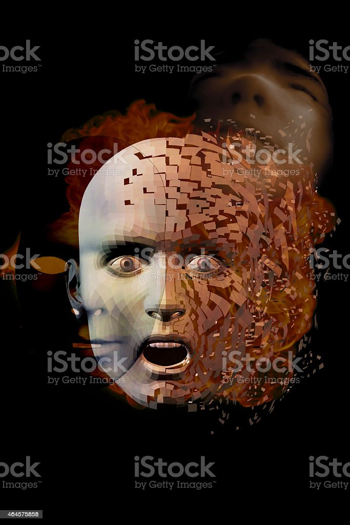 Surreal Face stock photo
