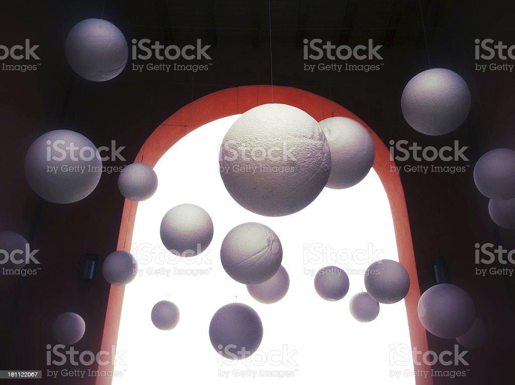 Surrealista esferas de conexión - foto de stock