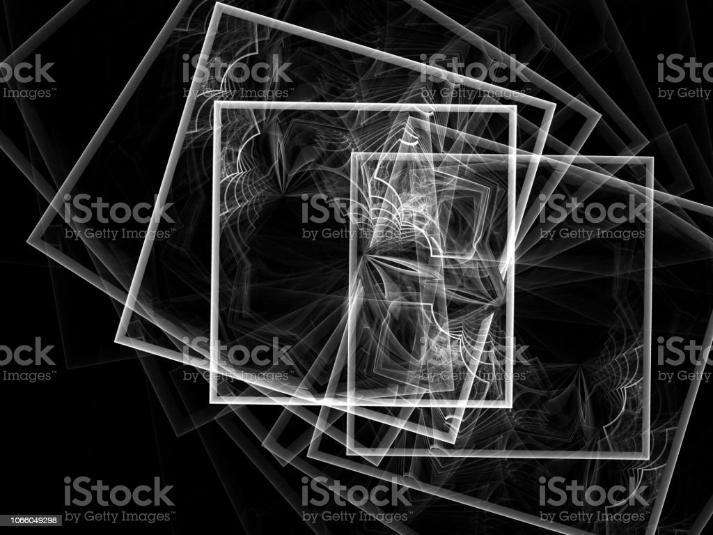 surreal Futuristic digital 3d design art abstract background fractal illustration for meditation and decoration wallpaper stock photo