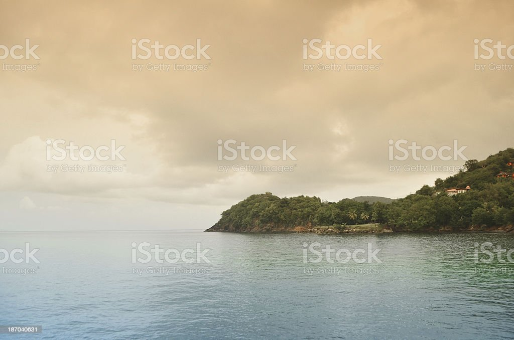 surreal landscape and headland royalty-free stock photo