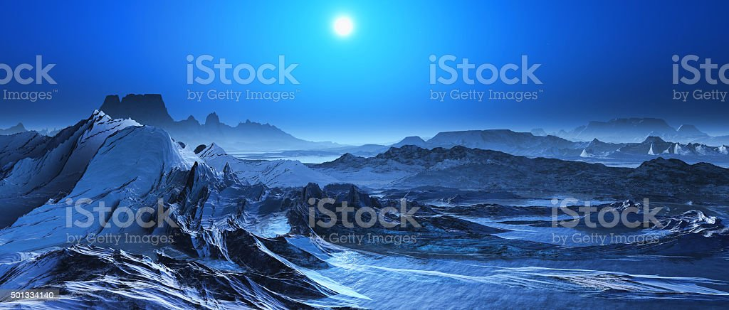 3D surreal landscape stock photo