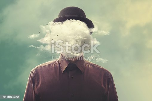 istock surreal man head in the cloud 861553788