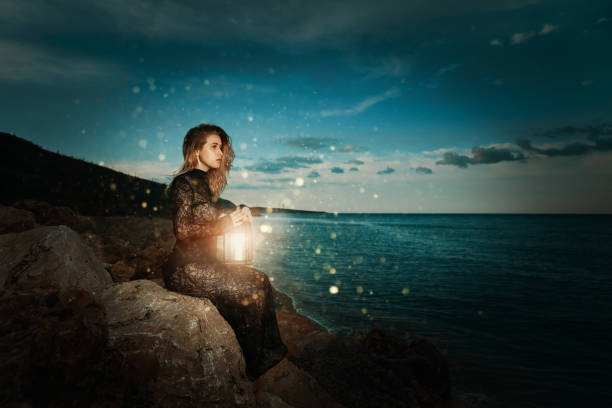 surreal moments - spirituality stock photos and pictures