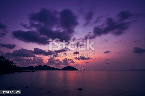 istock surreal of seascape twilight skyline background 1254171659