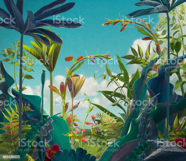 Photo of Surreal plants background