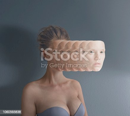 Surreal portrait of young women