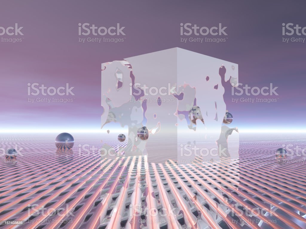 Surreal representation on personal wealth royalty-free stock photo