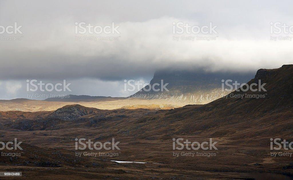surreal scottish scenery stock photo
