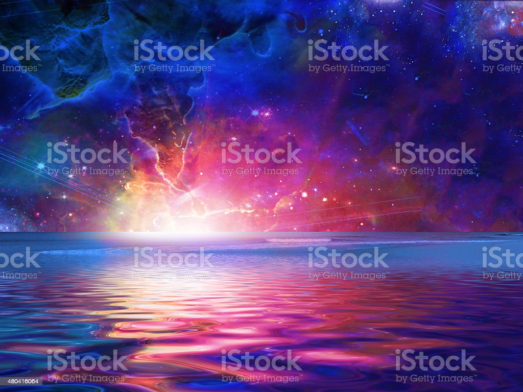 Surreal Sea stock photo