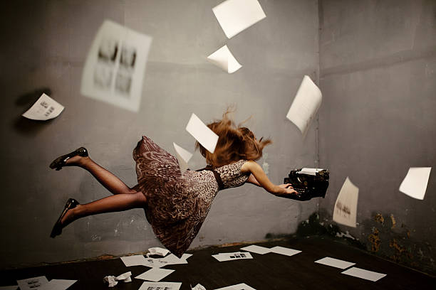 Surreal Escritor - foto de acervo