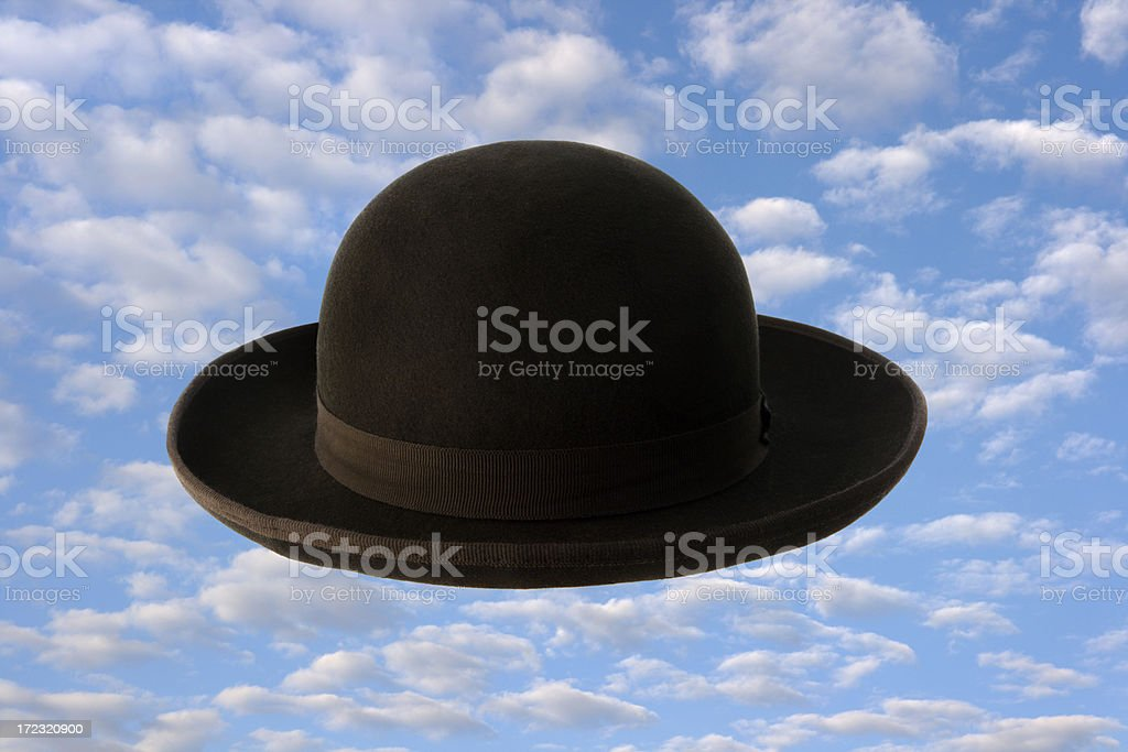 Surrealistic Bowler Hat Hz royalty-free stock photo