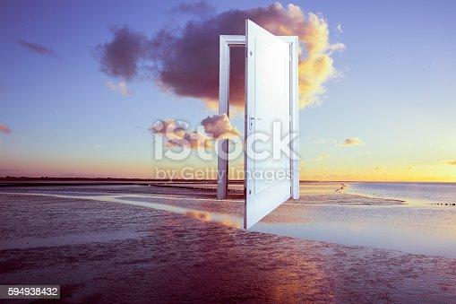 istock surrealistic door to freedom 594938432