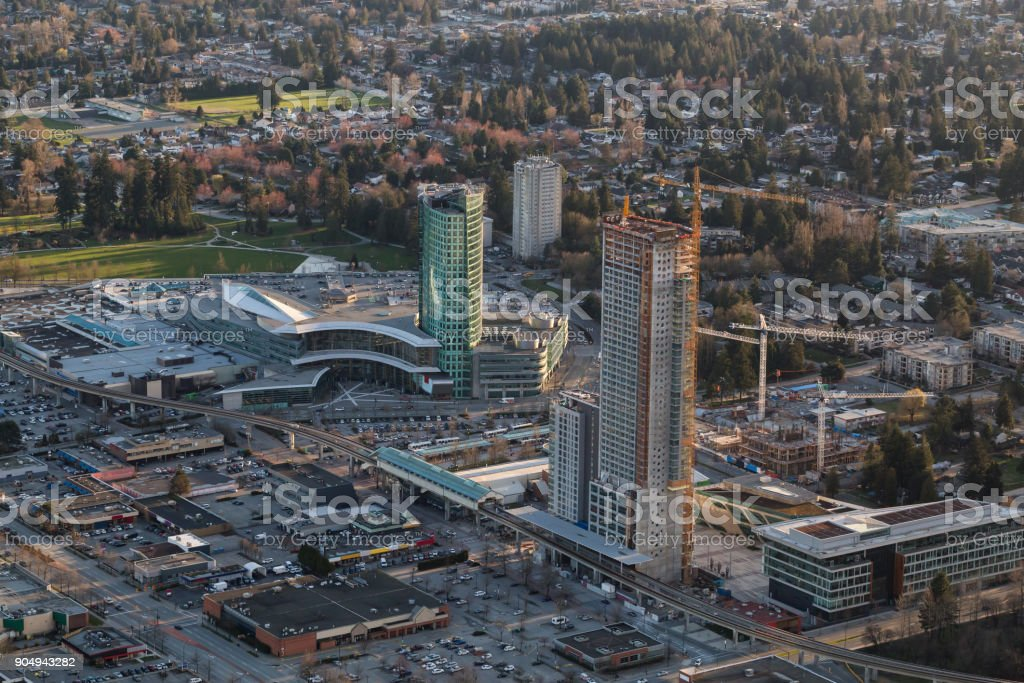 Surrey Central Aerial stock photo