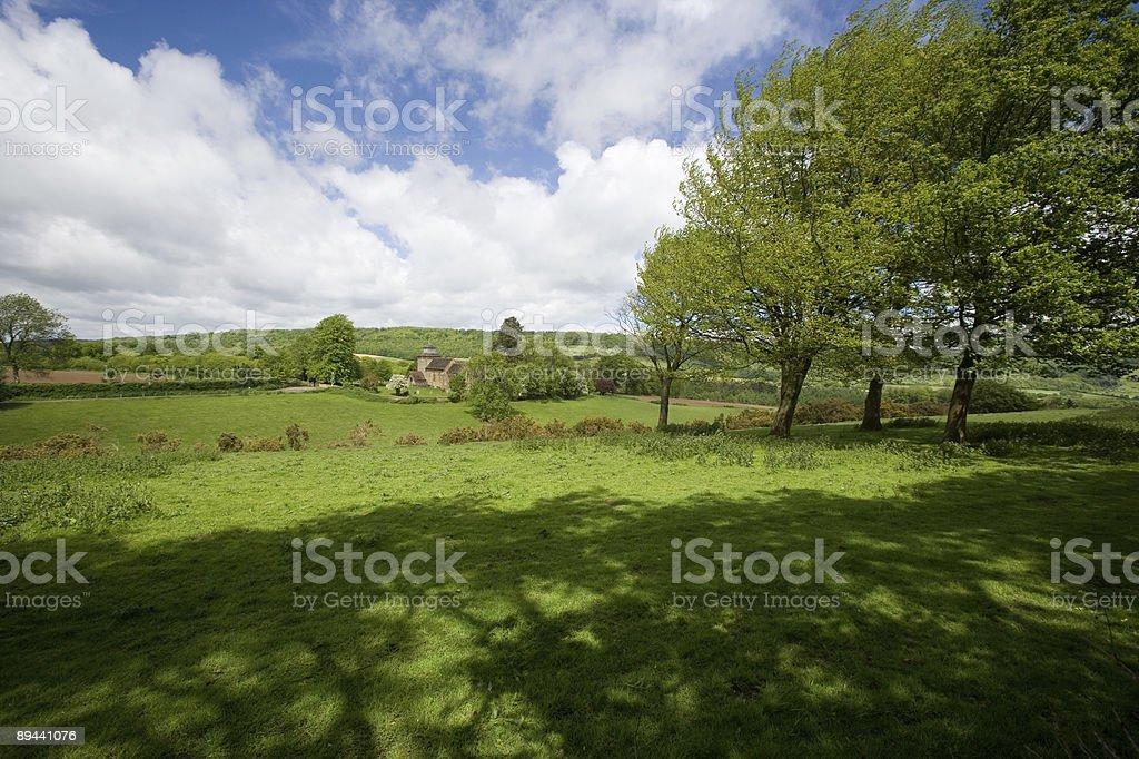 Surrey Countryside at Wotton stock photo