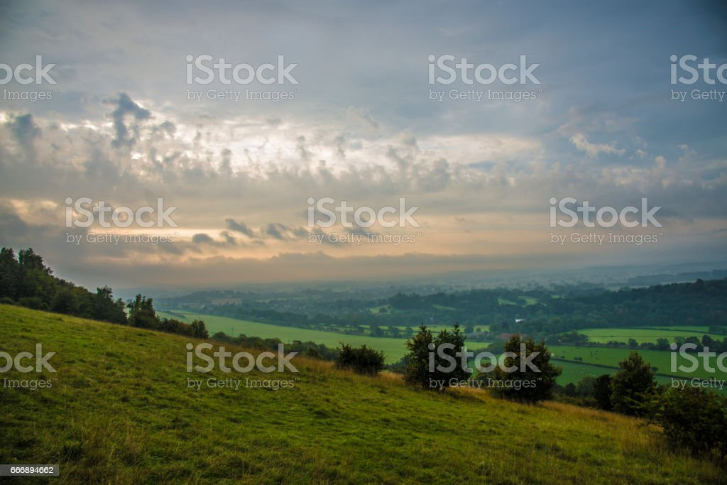 Surrey Hills 01 stock photo